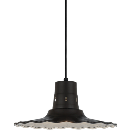 """16"""" shade in 91 Black finish with CB8 mounting"""