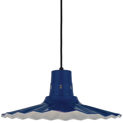 """20"""" shade in 103 Blue finish with CB8 mounting"""