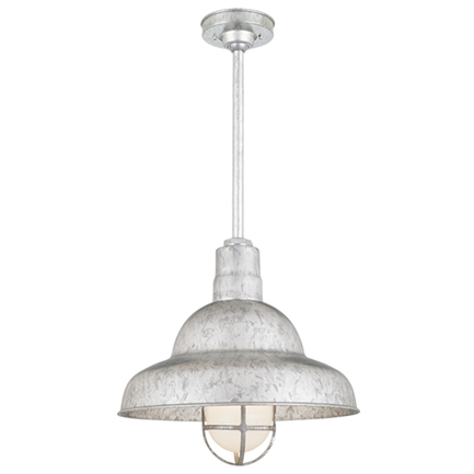 """16"""" shade with 18"""" ST2 and HSC in 96 Galvanized finish"""