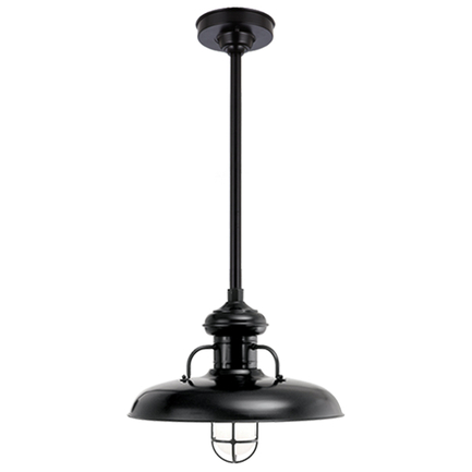 """18"""" RLM shade with CGU accessory and frost glass, 24"""" ST3 and HSC in 91 Black finish"""