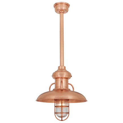 """16"""" shade, CGU accessory with clear glass, 20"""" ST3 with SMC and DCC accessory in 48 Raw Copper finis"""