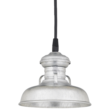 """6"""" shade in 96 Galvanized finish with CB8 mounting"""