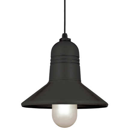 """15"""" shade in 91 Black finish with CB8 mounting"""