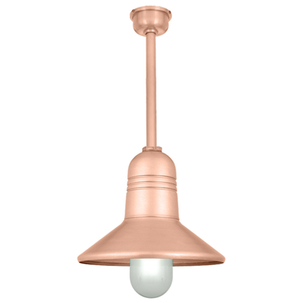 15' RLM shade in 24 satin copper finish with ST3 stem