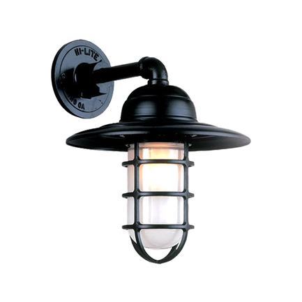 """13"""" shade in 91 black finish with frost glass"""