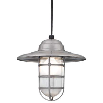 """14"""" shade in 11 satin steel finish w/ frost glass, 8 ft. black cord w/ 91 black canopy"""