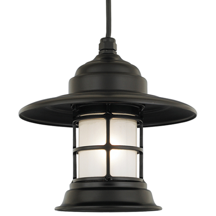 Mini fixture in 91 black with frost glass, 8 ft cord with 91 black canopy