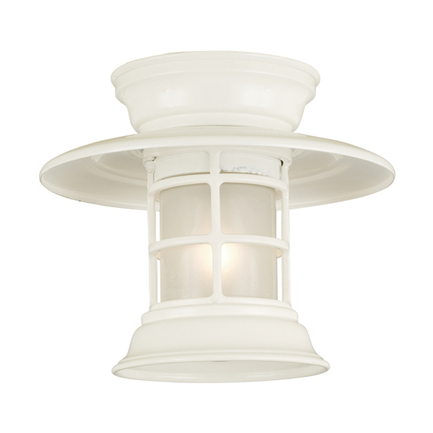 Mini fixture with frost glass in 93 white finish
