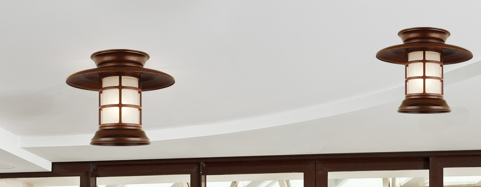 """13"""" shade in 77 rosewood finish with frost glass"""