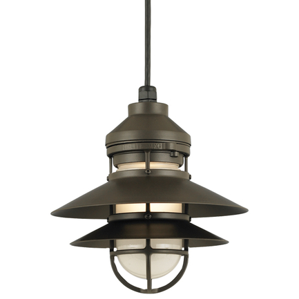"""12"""" shade in 119 Bronze finish with frost glass and CB8 mounting"""
