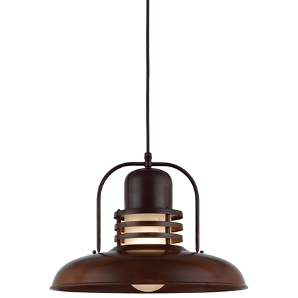 """18"""" shade with frost glass in 77 rosewood finish, 8 ft. black cord with 91 black canopy"""