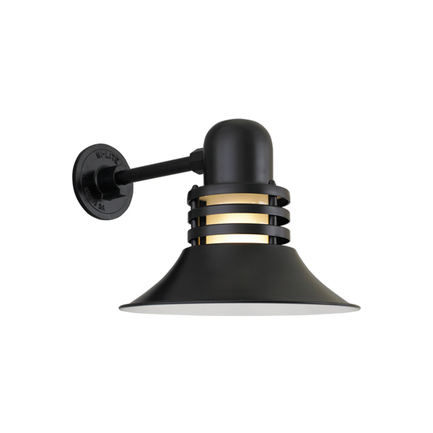 """12"""" shade with frost glass in 91 black finish"""