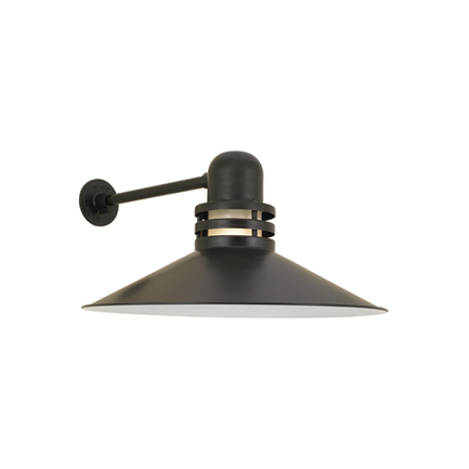 """24"""" shade with frost glass in 119 bronze finish"""