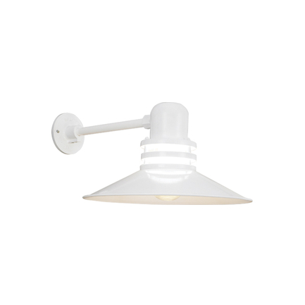 """16"""" shade with frost glass in 93 white finish"""