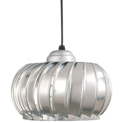 """19"""" fixture with CGU accessory with frost glass in 96 galvanized, CB8 mounting with 91 black canopy"""