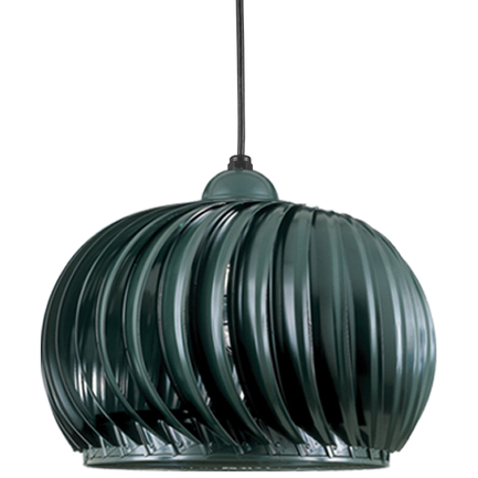 """26"""" fixture and LWGU accessory with clear ribbed glass in 95 dark green, CB8 mounting w/ 91 black ca"""