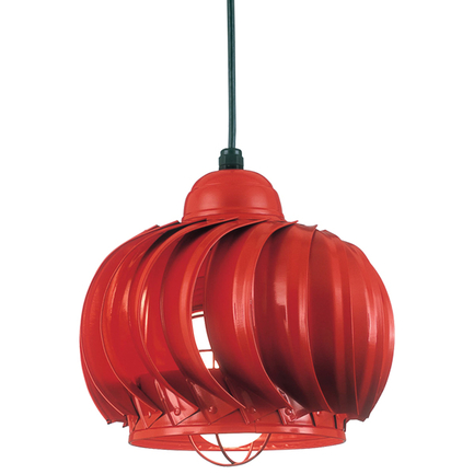 """14"""" fixture and WGU accessory with frost glass in 97 red finish"""