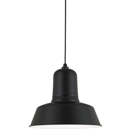 """20"""" shade in 91 Black finish with CB8 mounting"""