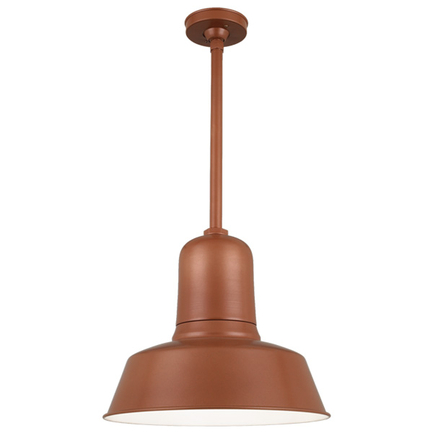 """20"""" shade with 15"""" ST3 and HSC in 113 painted copper finish"""