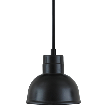 """6"""" shade with 1/8"""" Stem in 91 black finish"""