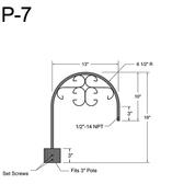 P-7 Post Arm