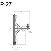 P-27 Post Arm