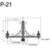 P-21 Post Arm