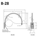 B-28 Gooseneck Arm