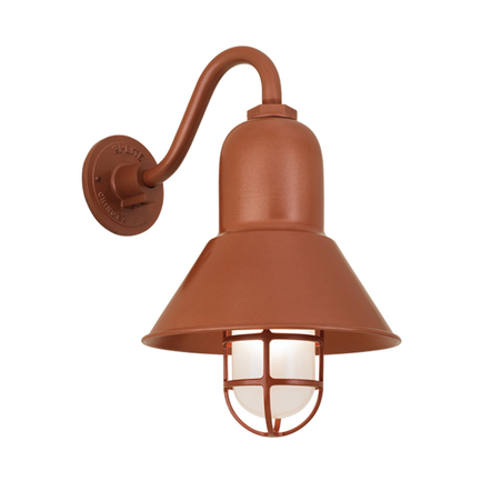 """10"""" shade with B-7 arm and CGU with frost glass in 113 metallic copper"""