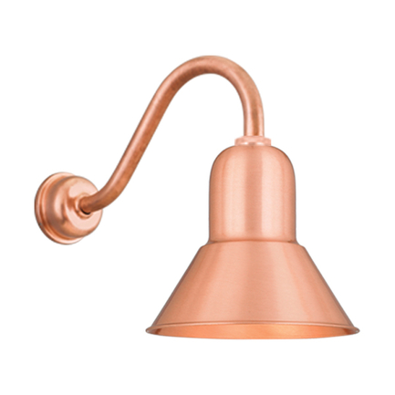 """10"""" shade with B-1 arm and DCC in 24 satin copper"""