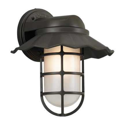 """10"""" shade with frost glass in 119 bronze finish"""