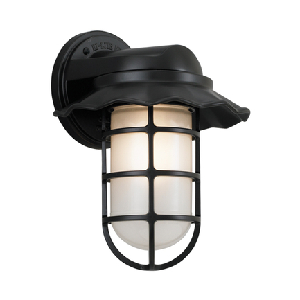 """9.5"""" shade with frost glass in 91 black finish"""
