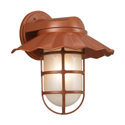 """12"""" shade with frost glass in 113 metallic copper finish"""
