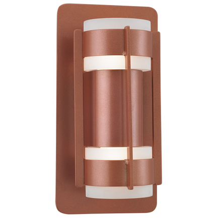 """6.5"""" fixture with frost cylinder in 113 metallic copper finish"""