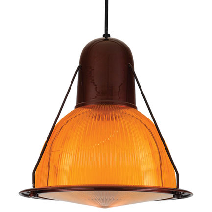 """14"""" shade with amber lens in 121 cafe finish, 8 foot black cord with 91 black canopy, CLLS accessory"""