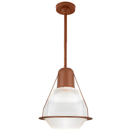 """19"""" shade with ribbed lens, 18"""" ST3 and HSC in 113 metallic copper finish, DPL accessory"""