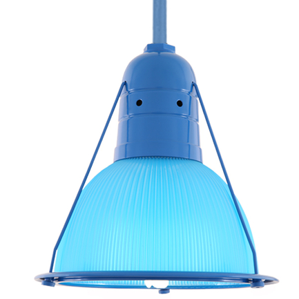 """14"""" fixture with light blue lens and ST2 in 103 blue finish"""