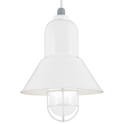 """10"""" shade and CGU accessory with frost glass in 93 white, 8 foot white cord with 93 white canopy"""