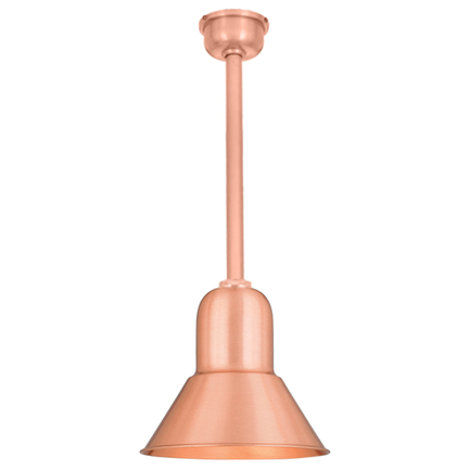 """10"""" shade with 12"""" ST2 and SMC with DCC in 24 satin copper"""
