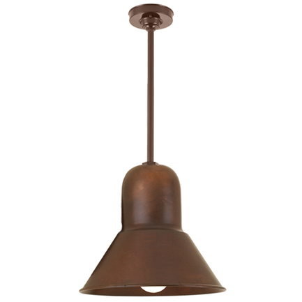 """10"""" shade with 15"""" ST3 and HSC in 77 rosewood finish"""