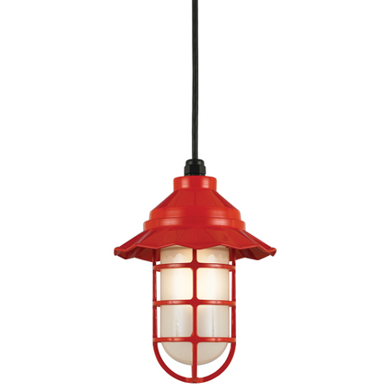 """8"""" shade in 97 Red finish with frost glass"""