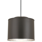 Wide Cord-Hung Pendant