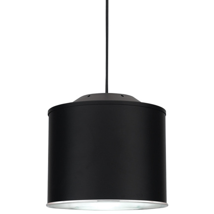 """10"""" shade in 91 black exterior & 98 polished aluminum interior, 8 foot black cord with 91 black cano"""