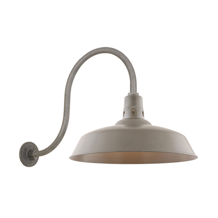 """20"""" RLM shade with HL-O gooseneck arm in 117 Painted Steel finish"""