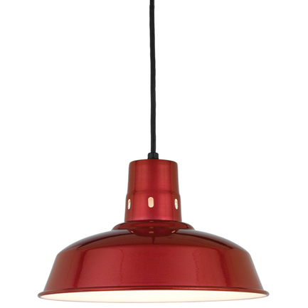 """14"""" shade in 139 Cranberry finish with CB8 mounting"""