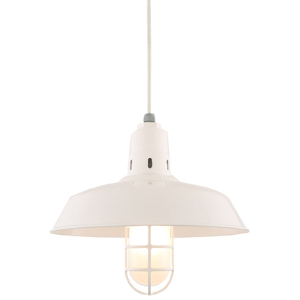 """16"""" shade in 93 White finish with CGU accessory, frost glass and CW8 mounting"""