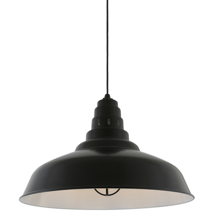 """27"""" shade in 91 Black finish with CB8 mounting"""