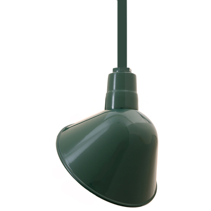 """12"""" shade with ST2 in 95 Dark Green finish"""