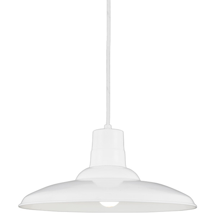 """18"""" shade in 93 White finish with CW8 mounting"""