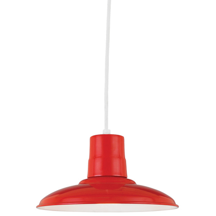 """12"""" shade in 97 Red finish with CW8 mounting"""